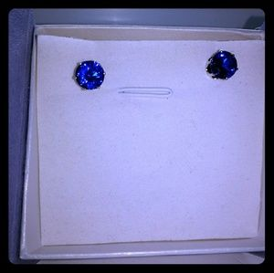 Jewelry - 5cttw Blue Cubic Zir. .925 Sterling